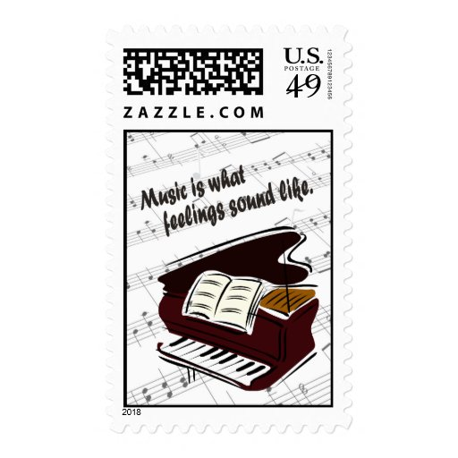 Piano Version What Feelings Sound Like Postage Stamp