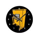 piano vertical anaranjado magnífico con music.png reloj de pared