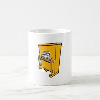 piano vertical anaranjado magnífico con music.png taza básica blanca