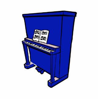 piano vertical azul magnífico con music.png escultura fotográfica