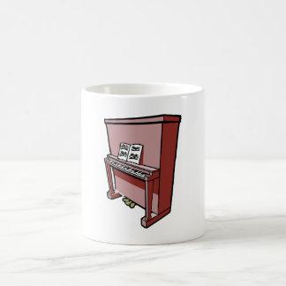 piano vertical magnífico con music.png taza básica blanca