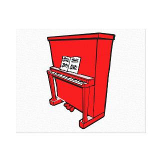 piano vertical rojo magnífico con music.png impresión en lienzo estirada