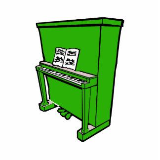 piano vertical verde magnífico con music.png escultura fotográfica