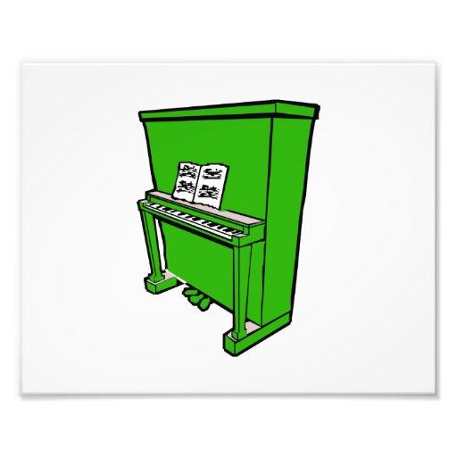 piano vertical verde magnífico con music.png fotografías