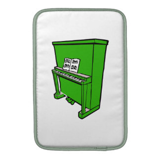 piano vertical verde magnífico con music.png funda para macbook air