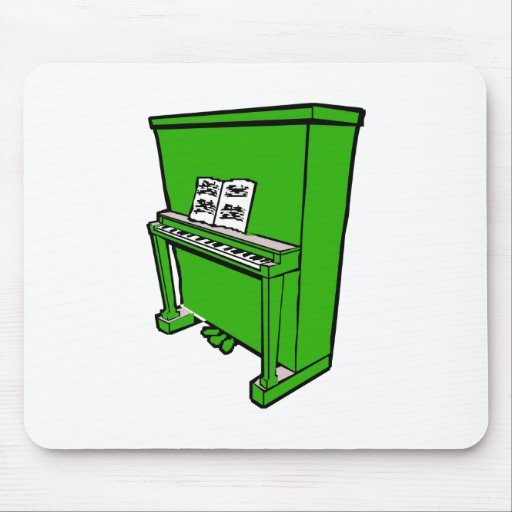 piano vertical verde magnífico con music.png alfombrilla de ratones