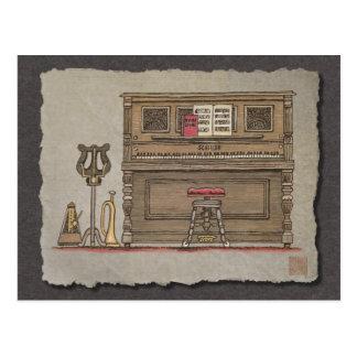 Piano vertical viejo tarjetas postales