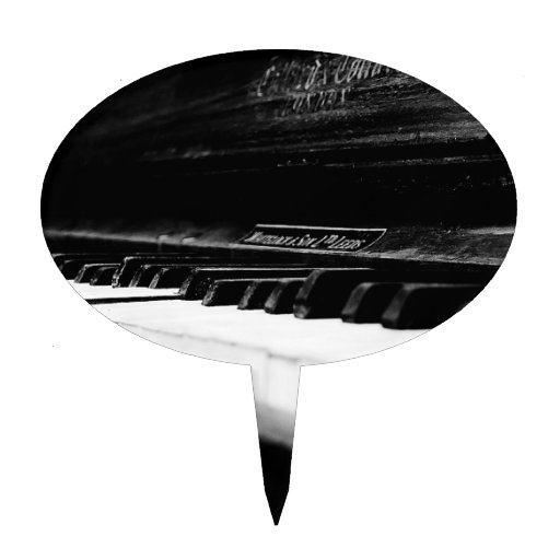 Piano viejo decoración de tarta