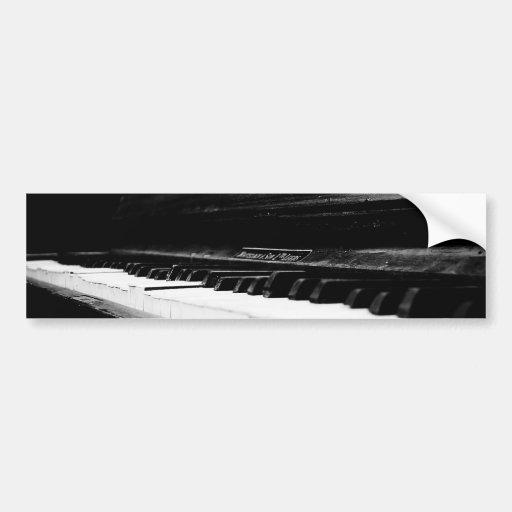 Piano viejo etiqueta de parachoque