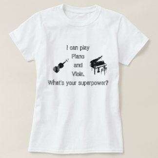 Piano & Viola Superpower T-Shirt
