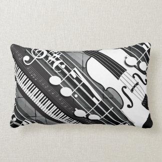 Piano Violin Notes Lumbar Pillow