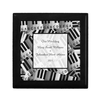Piano Wedding Black and White Keepsake Keepsake Box
