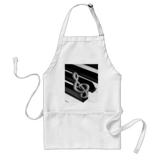 Piano with Music symbol Staff Gclef Adult Apron