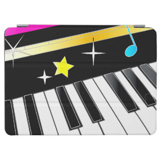 Piano with Musical Note and Stars iPad Air Cover