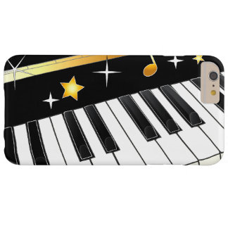 Piano with Notes and Stars Barely There iPhone 6 Plus Case
