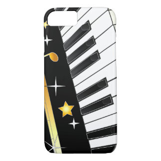 Piano with Notes and Stars iPhone 8/7 Case