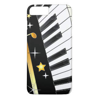 Piano with Notes and Stars iPhone 8 Plus/7 Plus Case