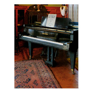Piano With Sheet Music Postcard