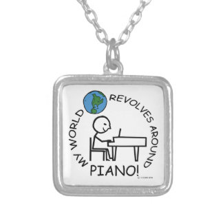 Piano - World Revolves Around Personalized Necklace