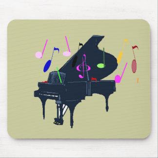 Piano y música tapetes de ratón