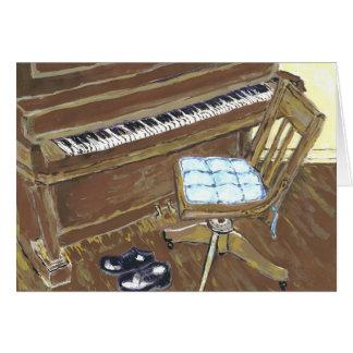 Piano y silla tarjeta de felicitación