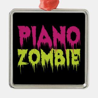 Piano Zombie Metal Ornament