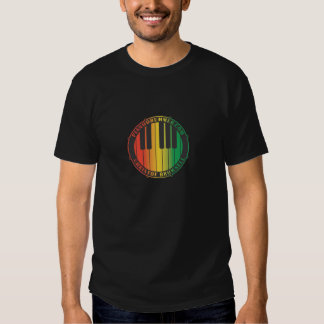 Pianodrummer Christof Brownell Red Gold Green T-Shirt