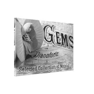 Pianoforte Gems And Begonia Blossom Wrapped Canvas