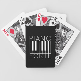 Pianoforte (white over black) bicycle playing cards