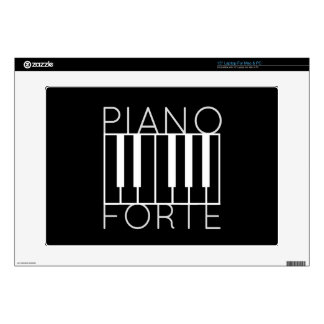 """Pianoforte (white over black) decals for 15"""" laptops"""