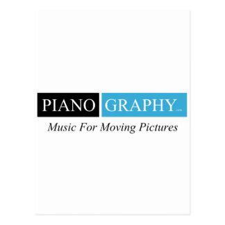PianoGraphy.com Postcard Vertical