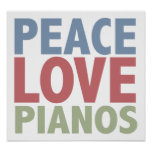 Pianos del amor de la paz impresiones