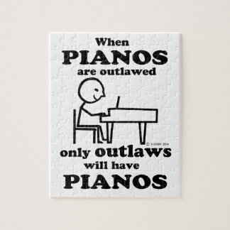 Pianos Outlawed Jigsaw Puzzle