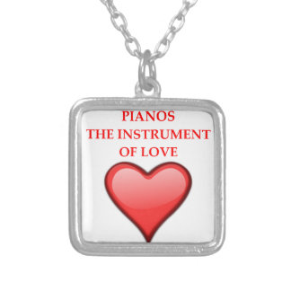 PIANOS SILVER PLATED NECKLACE