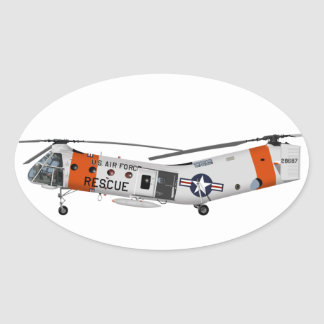 Piasecki H-21 Workhorse 457457 Oval Sticker