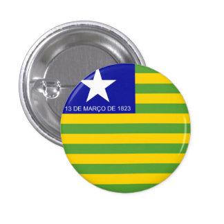 Piauí, botón brasileño de la bandera del estado pin redondo de 1 pulgada