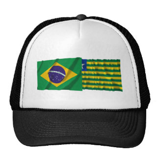 Piauí & Brazil Waving Flags Trucker Hat