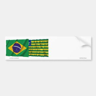 Piauí y banderas que agitan del Brasil Pegatina Para Auto