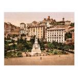 Piazza Acqua Verde (Green Water Place), Genoa, Ita Postcard