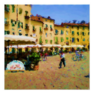 Piazza Amphiteatro Lucca Tuscany Print