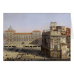 Piazza Castello, Turin, engraved by F. Citterio (c Card