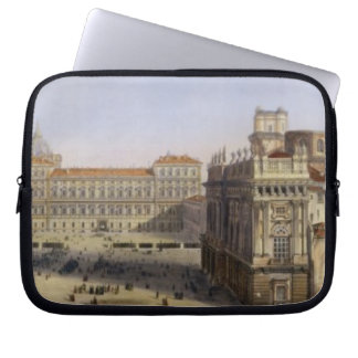 Piazza Castello, Turin, engraved by F. Citterio (c Computer Sleeve
