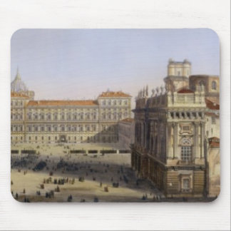Piazza Castello, Turin, engraved by F. Citterio (c Mouse Pad
