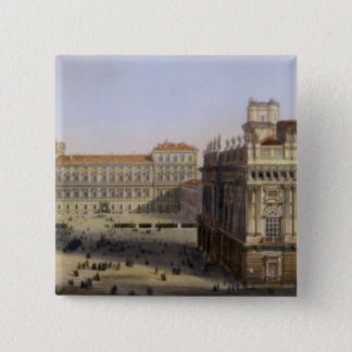 Piazza Castello, Turin, engraved by F. Citterio (c Pinback Button