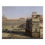 Piazza Castello, Turin, engraved by F. Citterio (c Poster
