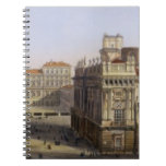 Piazza Castello, Turin, engraved by F. Citterio (c Spiral Notebook
