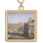 Piazza Castello, Turin, engraved by F. Citterio (c Square Pendant Necklace