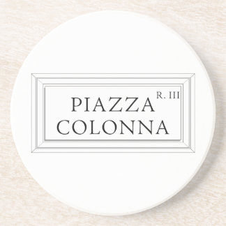 Piazza Colonna, Rome Street Sign Coaster