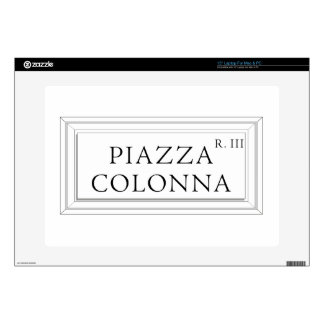"""Piazza Colonna, Rome Street Sign 15"""" Laptop Decal"""
