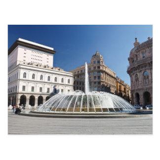 Piazza de Ferrari, Genova Postcard